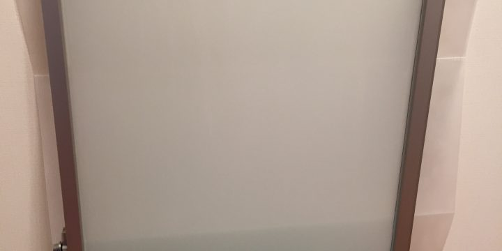 目黒区マンションリノベーション窓フィルム施工3Mファサラミルキー